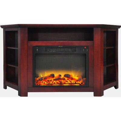 Cesar Electric Fireplace TV Stand Finish: Cherry
