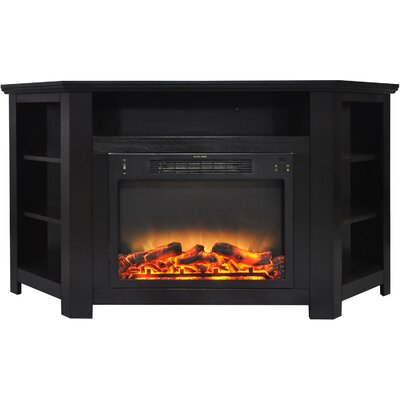 Cesar Electric Fireplace TV Stand Finish: Black Coffee