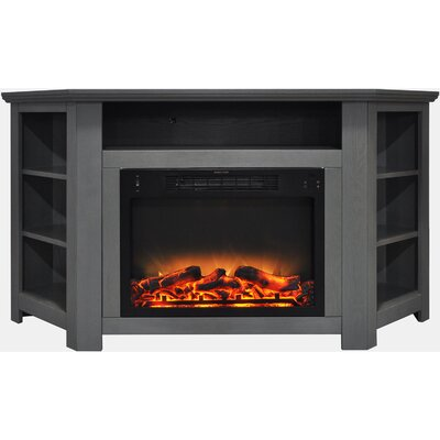 Cesar Electric Fireplace TV Stand Finish: Gray