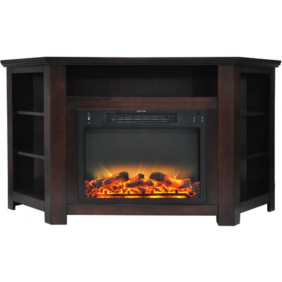 Cesar Electric Fireplace TV Stand Finish: Mahogany