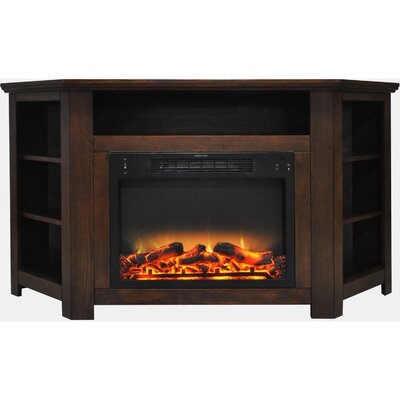 Cesar Electric Fireplace TV Stand Finish: Walnut