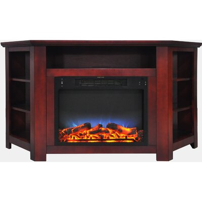 Cesar LED Electric Fireplace TV Stand Finish: Cherry