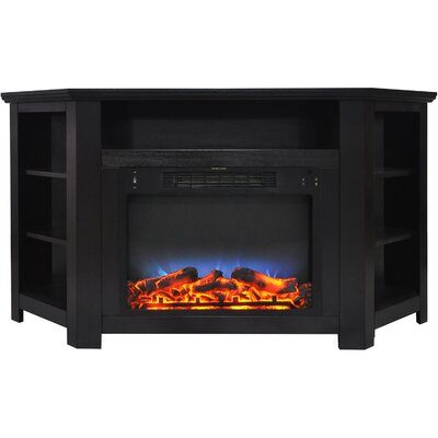 Cesar LED Electric Fireplace TV Stand Finish: Black Coffee