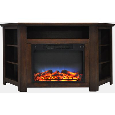 Cesar LED Electric Fireplace TV Stand Finish: Walnut
