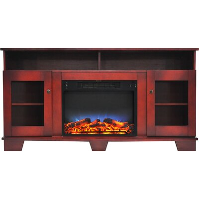 Ackermanville 59 TV Stand with Electric Fireplace Finish: Cherry