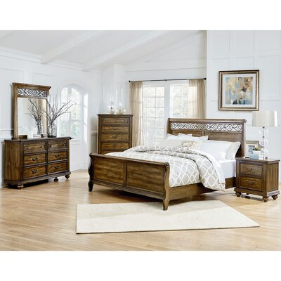 Troian 5-Piece Bedroom Set Size: King