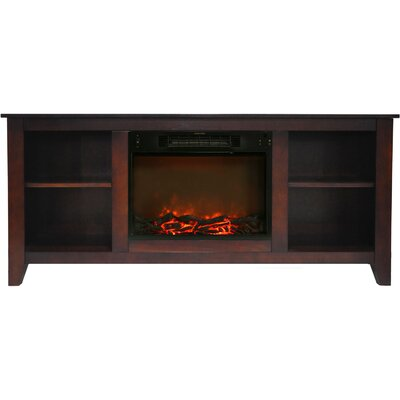 Brook Hollow Contemporary 62.8 Electric Fireplace