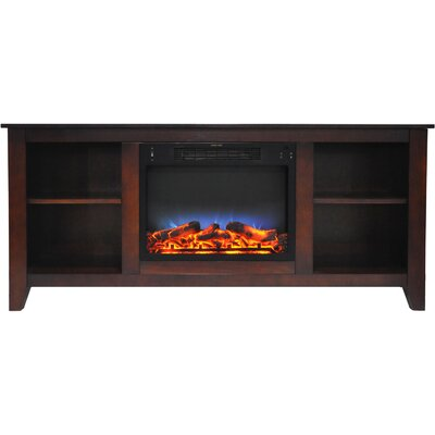 Brook Hollow 62.8 TV Stand with Electric Fireplace