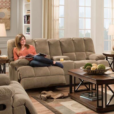 Dilorenzo Double Reclining Loveseat Upholstery: Cocoa Brown