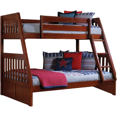 Stanford Twin Over Full Bunk Bed Color: Merlot