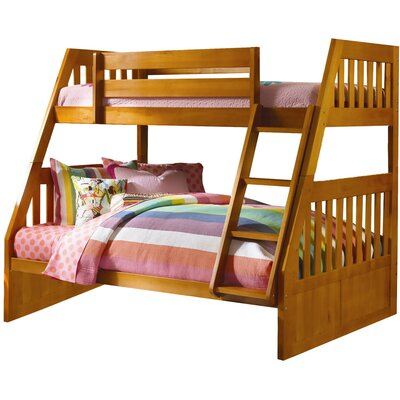 Stanford Twin Over Full Bunk Bed Color: Honey