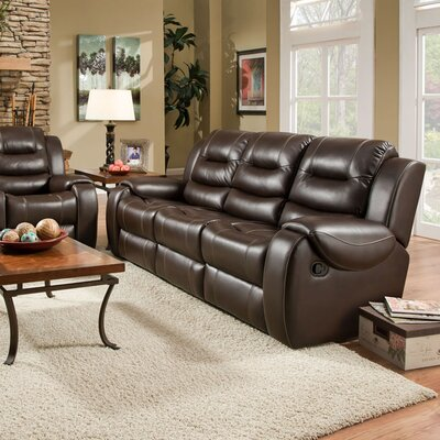 Daigre Double Reclining Sofa Upholstery: Umber, Recliner Mechanism: Manual