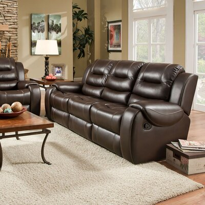 Daigre Double Reclining Loveseat Upholstery: Umber