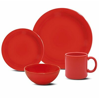 Daily 16 Piece Dinnerware Set Color: Red 7891361951888