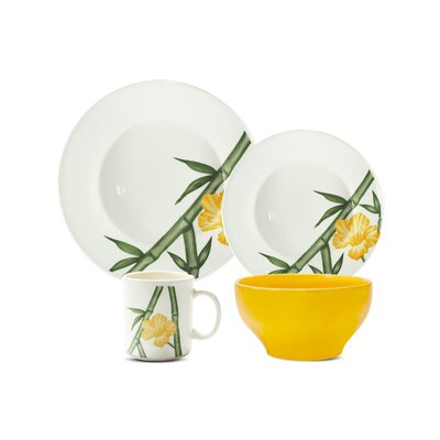Biona Tropical 16 Piece Dinnerware Set, Service for 4 7891361975181