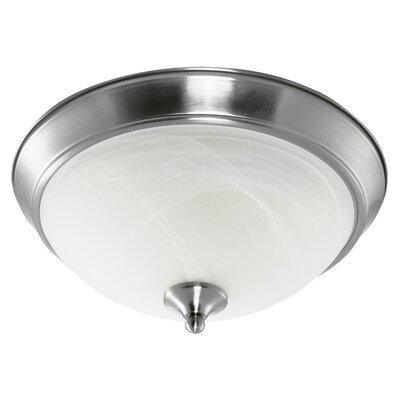 1-Light Flush Mount Finish: Brushed Nickel
