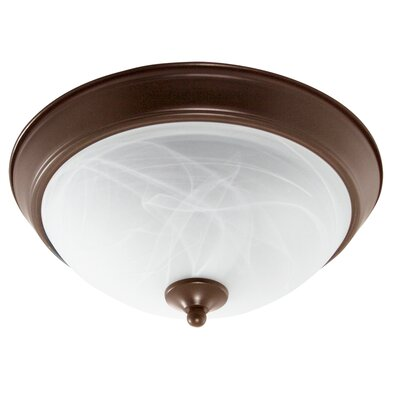 1-Light Flush Mount Finish: Bronze