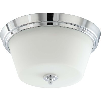2-Light LED Flush Mount Bulb Type: Fluorescent