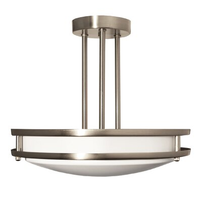 2-Light Semi Flush Mount Size: 21 H x 16 W x 16 D