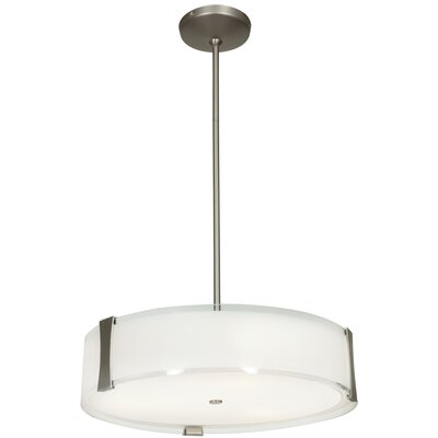 Henke Convertible 3-Light LED Drum Pendant