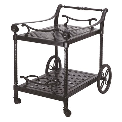 Grand Terrace Serving Cart Frame Finish: Vintage