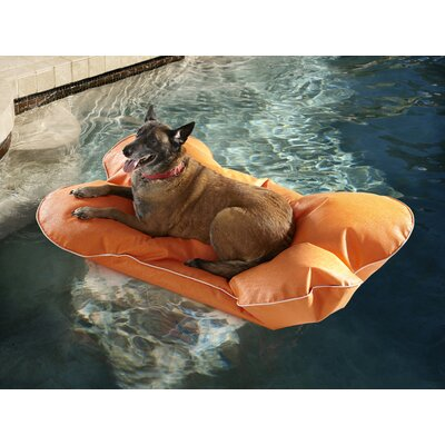 Aqua Pup Pool Mat Size: Large, Color: Tangerine
