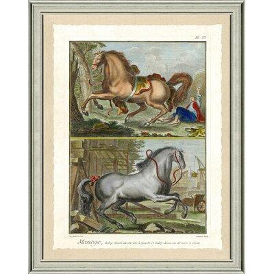 'Double Horse Scene I' Framed Graphic Art Print