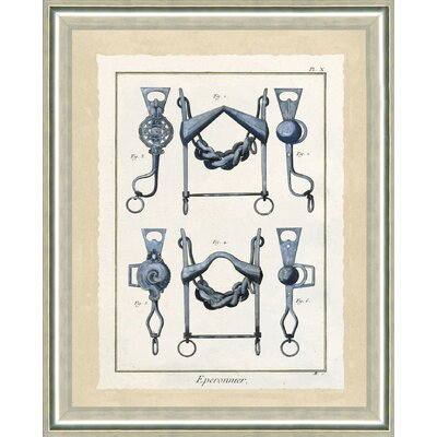 'Horse Bits I' Framed Graphic Art Print