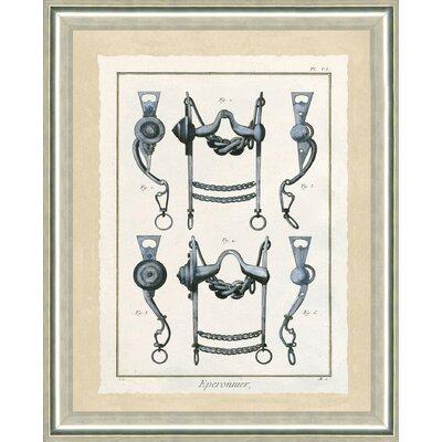 'Horse Bits II' Framed Graphic Art Print