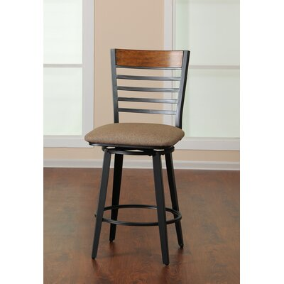 Barrow Swivel Bar Stool with Cushion by Simmons Casegoods