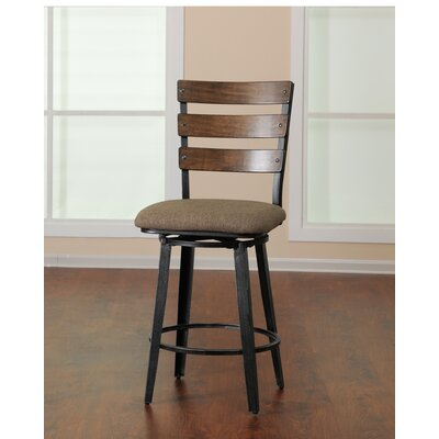 Fossil Contemporary Counter Height Swivel Bar Stool by Simmons Casegoods