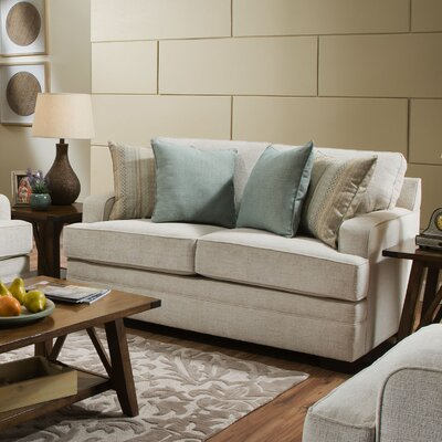 Simmons Carla Parchment Loveseat