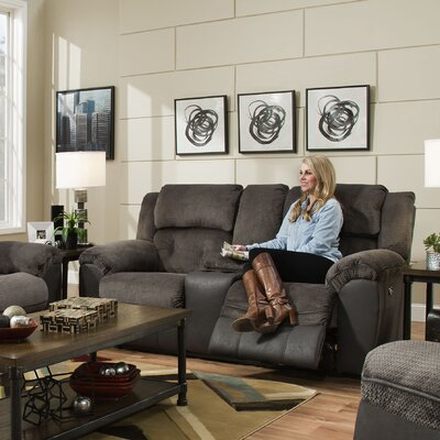 Simmons George Double Motion Reclining Loveseat Type: Power