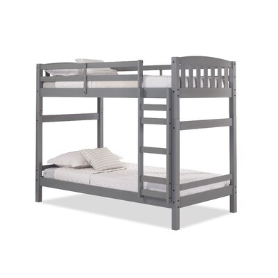 Jayne Twin over Twin Bunk Bed Bed Frame Color: Gray