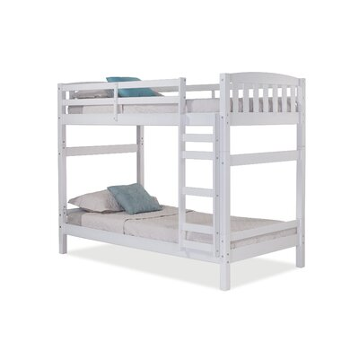 Jayne Twin over Twin Bunk Bed Bed Frame Color: White