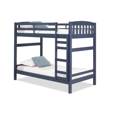 Jayne Twin over Twin Bunk Bed Bed Frame Color: Blue