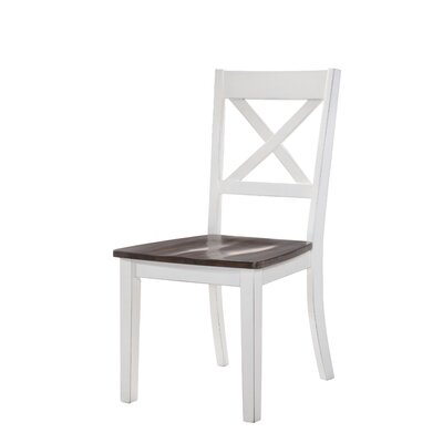 Altamirano Solid Wood Dining Chair (Set of 2) Color: White