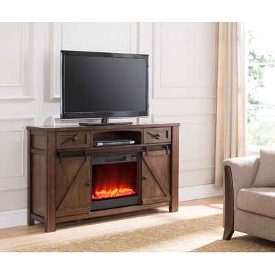 Altier Media Center 60 TV Stand with Fireplace