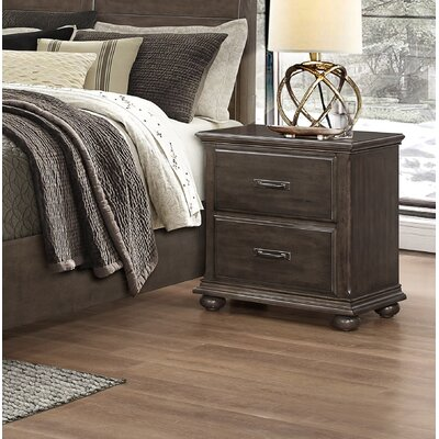 Karas 2 Drawer Nightstand
