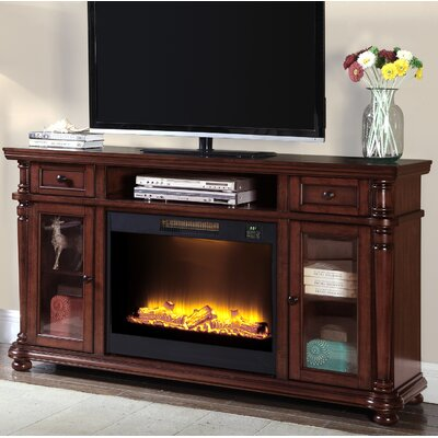 Mckale Media Center 64 TV Stand with Fireplace