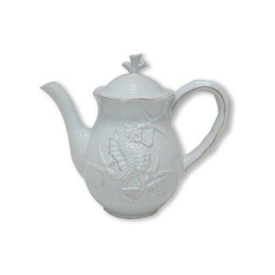Blue Sky Ceramics Seahorse Teapot - Color: Blue