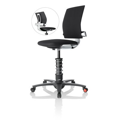 Motion Seating Active Office Chair Color: Black / Polished Frame Product Image 375