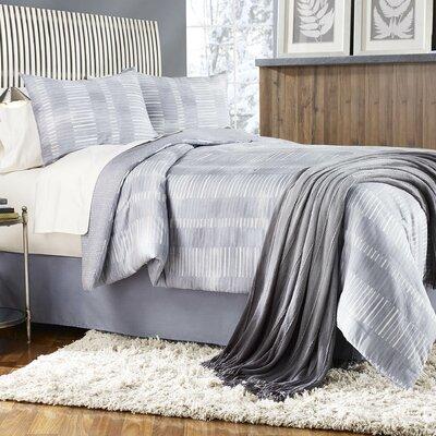 Grid Work 4 Piece Comforter Set Size: King