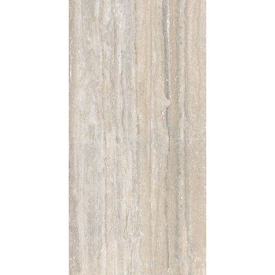 Al Contro Travertine 8 x 48 Porcelain Wood Look/Field Tile in Argento