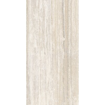 Al Contro Travertine 8 x 48 Porcelain Wood Look/Field Tile in Bianco