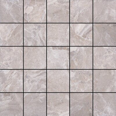 Canyon 13 x 13 Porcelain Mosaic Tile in Grey