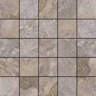 Canyon 13 x 13 Porcelain Mosaic Tile in Marron