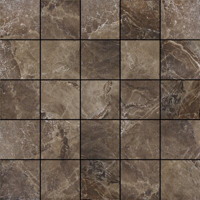 Canyon 13 x 13 Porcelain Mosaic Tile in Noce