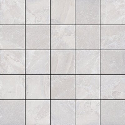 Canyon 13 x 13 Porcelain Mosaic Tile in White