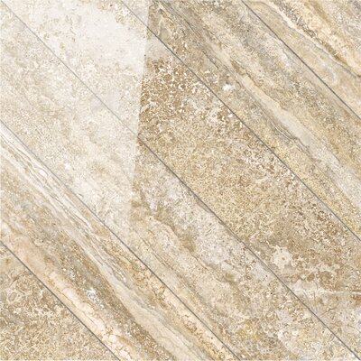 Vstone 19 x 19 Porcelain Field Tile in Amber Cross Semi Polished